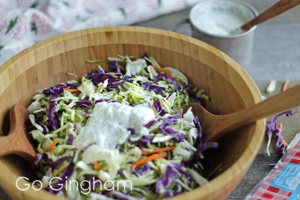 Cabbage salad with tzatziki Go Gingham