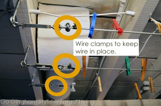 How to install indoor laundry line