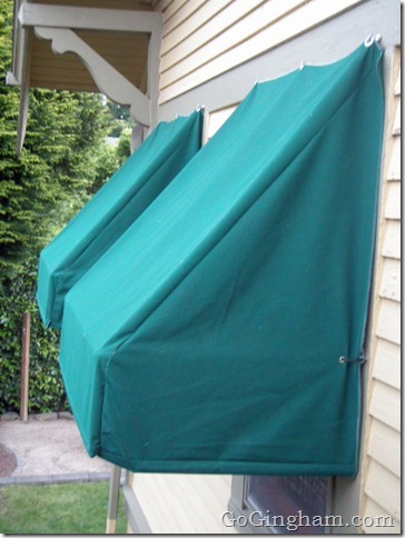 Go Gingham: How to make awnings