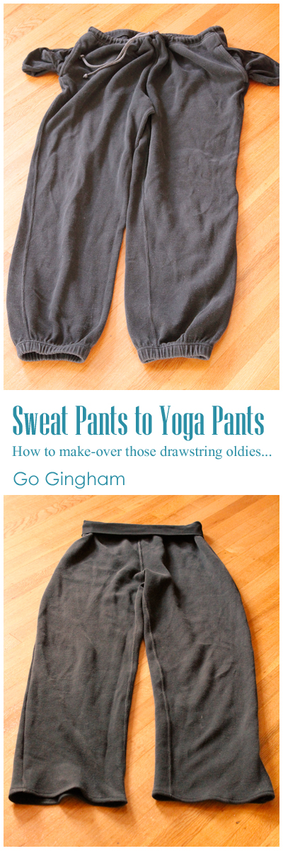 Sweat pants to yoga pants Go Gingham