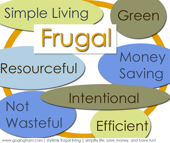 Frugal Living www.GoGingham.com