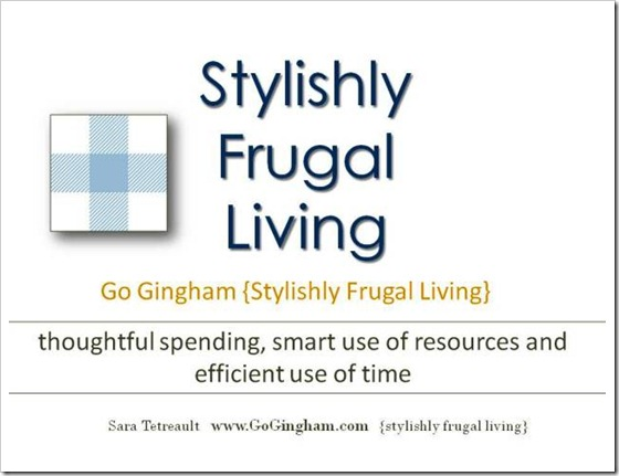 Stylishly Frugal Living