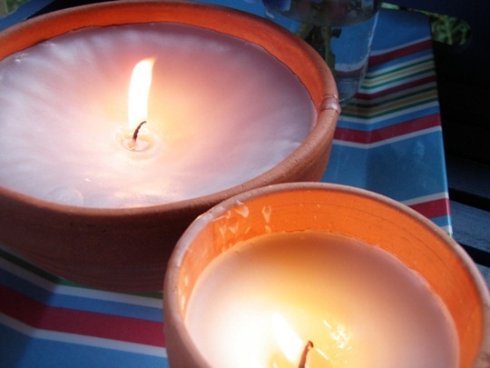 Go Gingham: How to make new candles from old candles