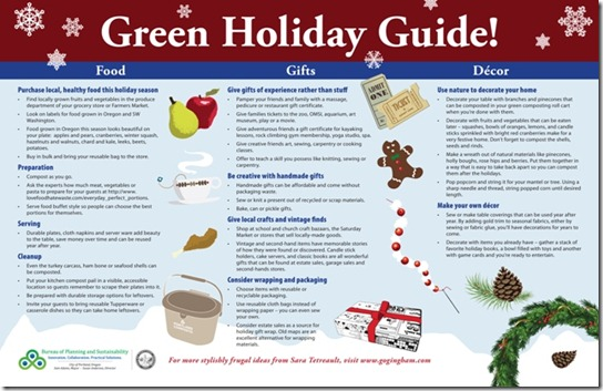 Green Holiday Guide