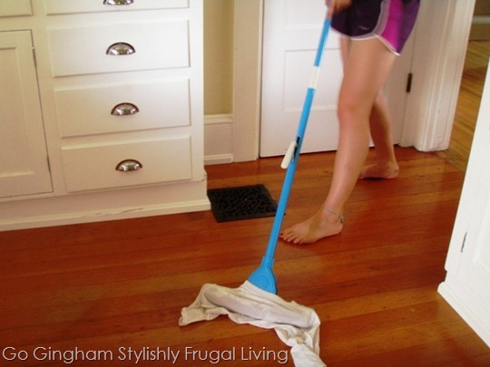 Vinegar and water floor cleaner