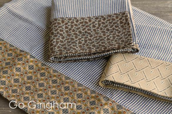 Gingham pillowcases Go Gingham
