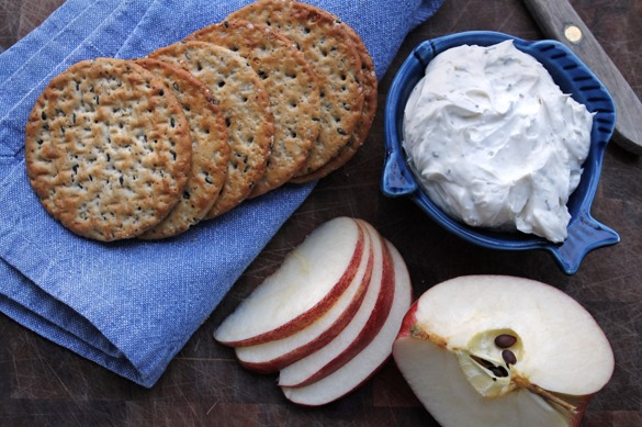 Very Cheesy Garlic Herb Spread from Go Gingham