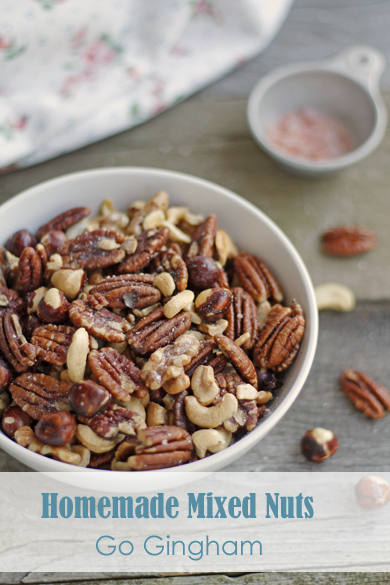 Make at home mixed nuts Go Gingham