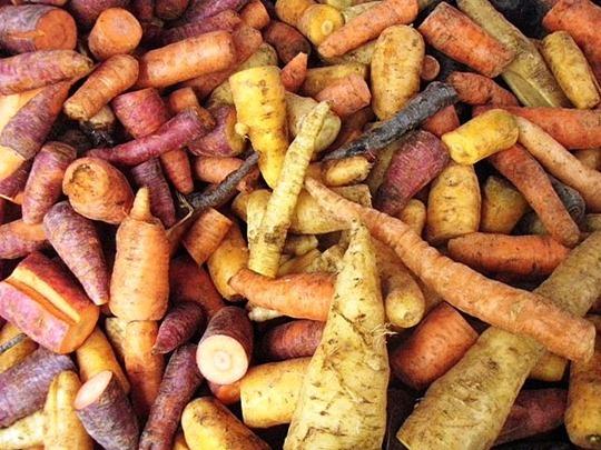 Seasonal cooking vegetables
