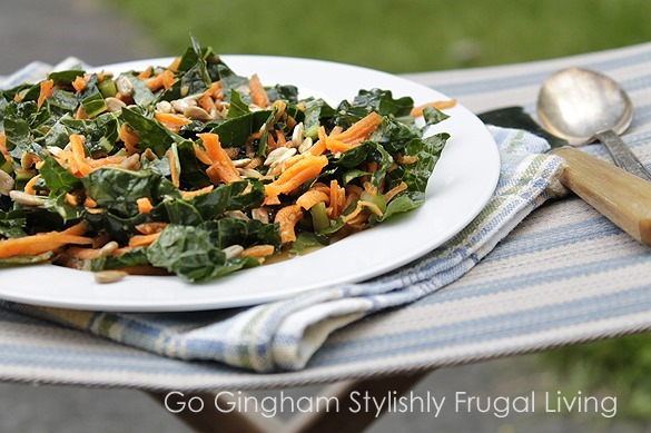 Carrot and Kale Salad - super healthy lunch from Go Gingham