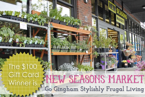 Go Gingham New Seasons Market Giveaway Winner
