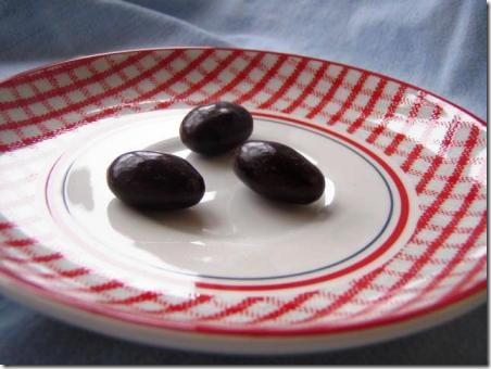 Dark chocolate covered almonds