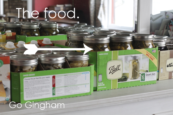 The preserved food Go Gingham