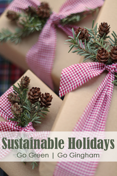 Sustainable Holidays Go Gingham