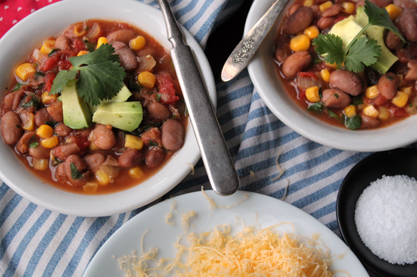 Veg Chili from Go Gingham Stylishly Frugal Living
