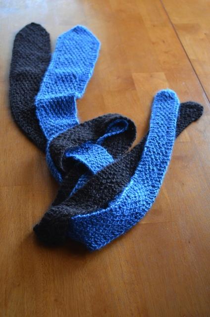 How to knit men's ties