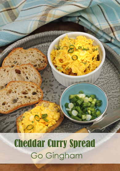 Cheddar Curry Spread Go Gingham