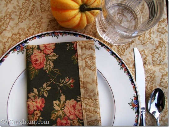 Mitered Cloth Napkins for Thanksgiving