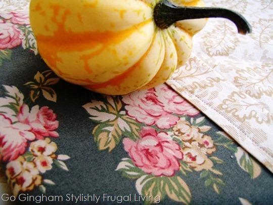 Homemade cloth napkins and tablecloth