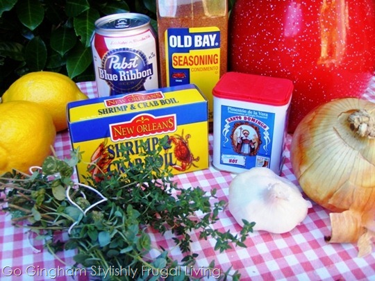 Clam bake ingredients