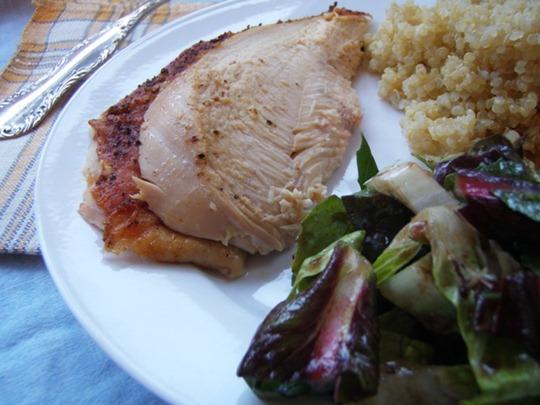 fish rice salad with chicken variation