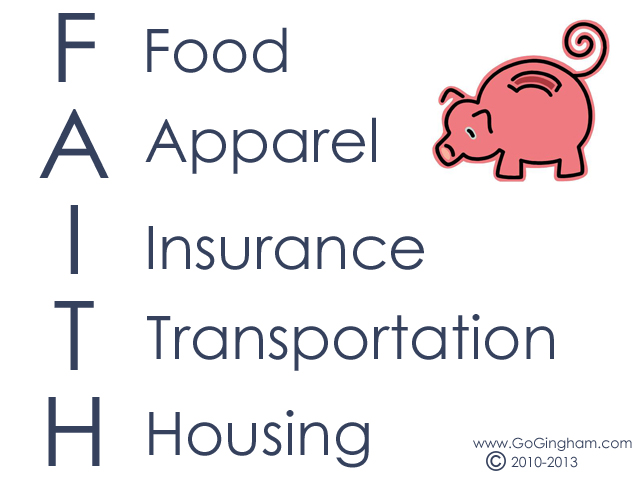 Go Gingham: Reduce FAITH to increase savings