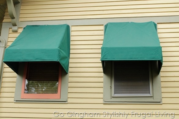 Awnings facing south from Go Gingham