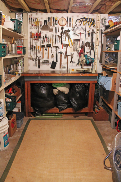 Go Gingham Tool Room Organized