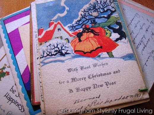 Vintage Holiday Cards Go Gingham