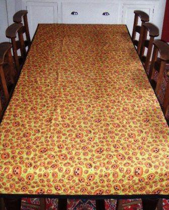 Homemade Halloween diningroom tablecloth