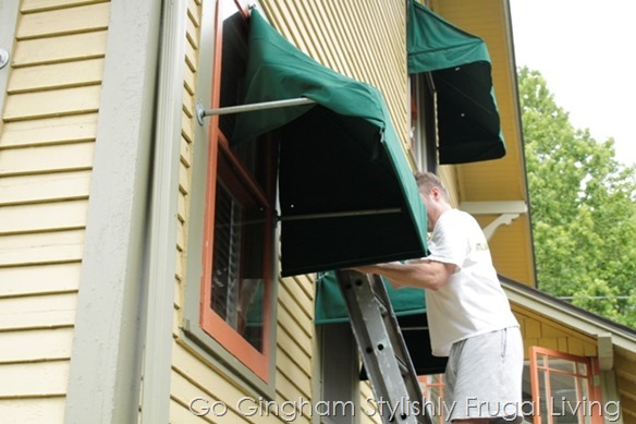 How to install awnings from Go Gingham