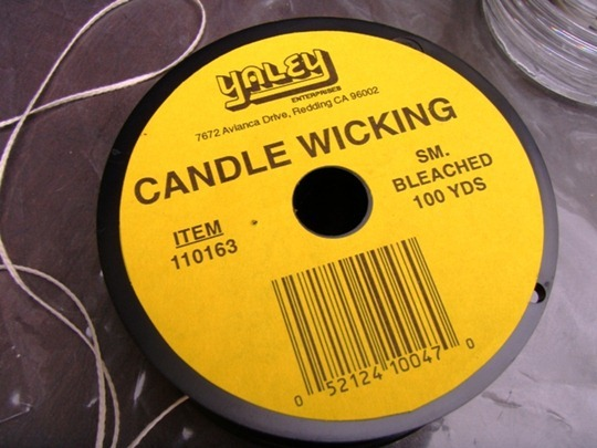 Use candle wicking