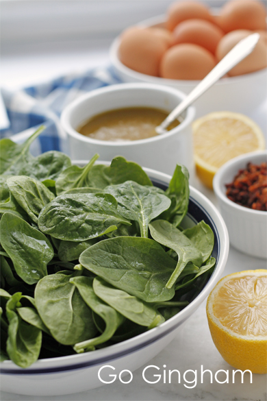 Spinach salad healthy Go Gingham