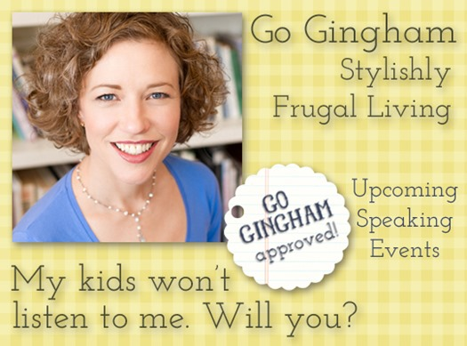 Go Gingham Upcoming Speaking Events