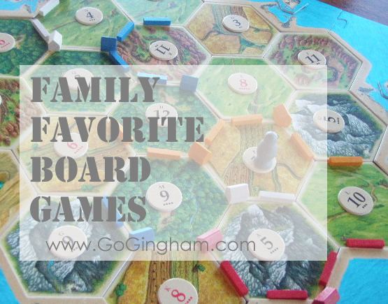 Family Favorite Board Games from Go Gingham