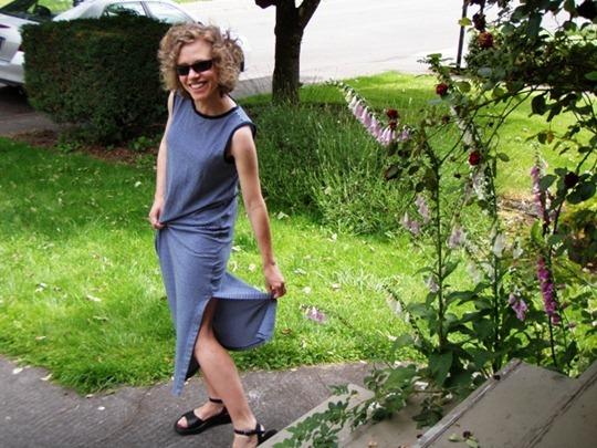 Repurposed dress Go Gingham