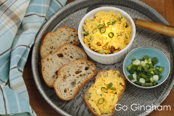 Cheese Spread Cheddar Curry Go Gingham