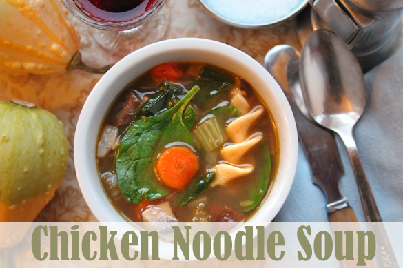 Homemade chicken noodle soup from Go Gingham