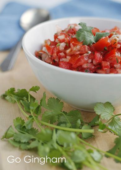 Fresh Tomato Salsa Go Gingham