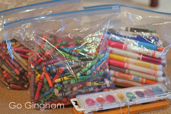 Art supplies to donate Go Gingham