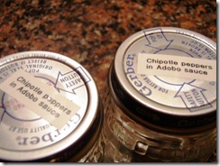 emptly glass jars labeled