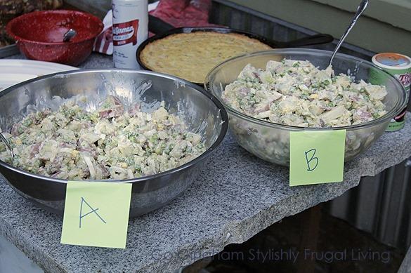 Go Gingham Potato Salad taste test