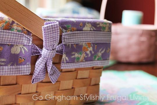 Easter baskets lined