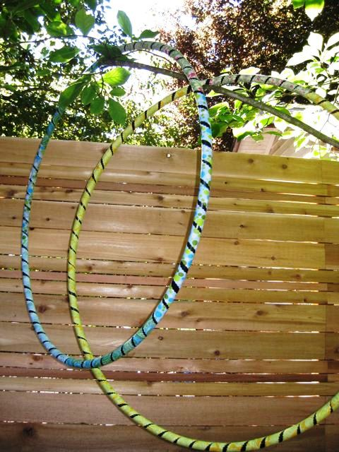 How to Cover a Hula Hoop with Fabric