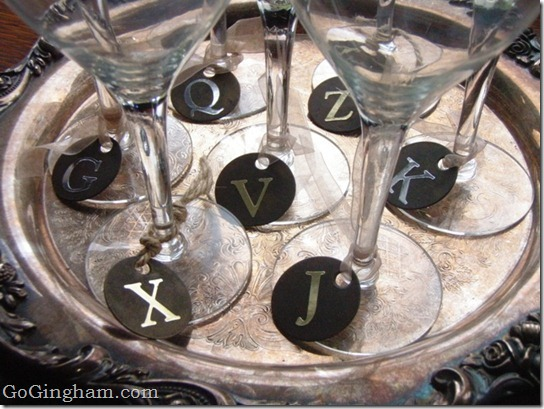 Frugal and Stylish Wine Glass Charms