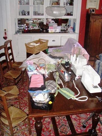 Dining room table mayhem