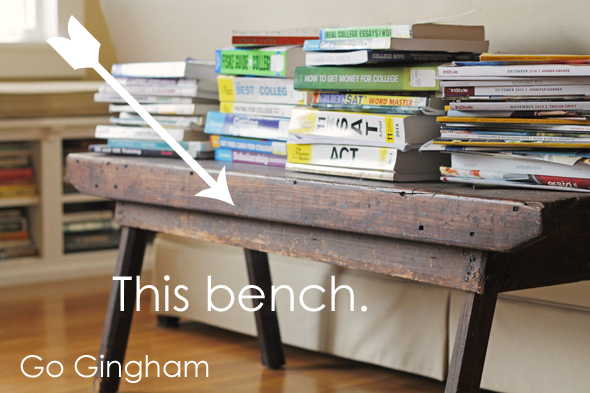 The bench Go Gingham