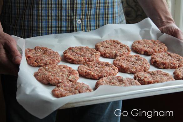 Pork Patties to Freeze Go Gingham