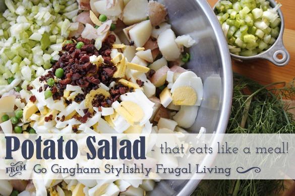 Potato Salad that eats like a meal www.GoGingham.com