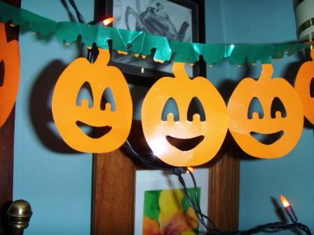 Halloween Lights and Pumpkins